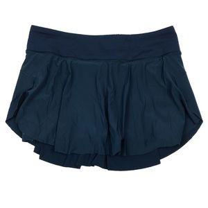 Lululemon Quick Pace Skirt Submarine Blue Teal 6